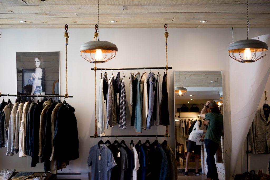 edge radio retail radio shop with clothes
